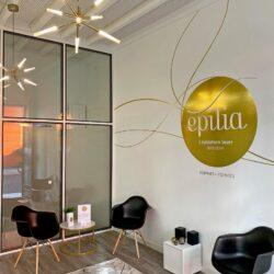 Épilia Centre d'esthétique - Signalétique intérieure et extérieure par Néodia