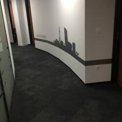 marquage adhésif mur