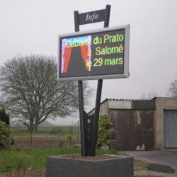 Panneau d'affichage led communal